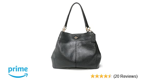 472741205fd inexpensive coach f57545 lexy pebble leather shoulder bag black handbags  amazon 0dfcd 4517f