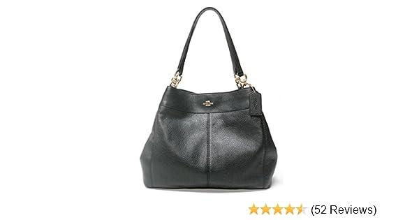 9a263bd9593f Coach F57545 Lexy Pebble Leather Shoulder Bag (Black)  Handbags  Amazon.com