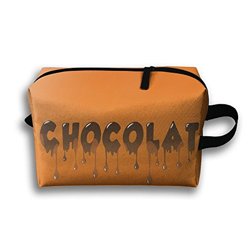 Chocolate Design Travel Bag Cosmetic Bags Brush Pouch Portable Makeup Bag Zipper Wallet Hangbag Pen Organizer Carry Case Wristlet (Chocolate Travel Charger)