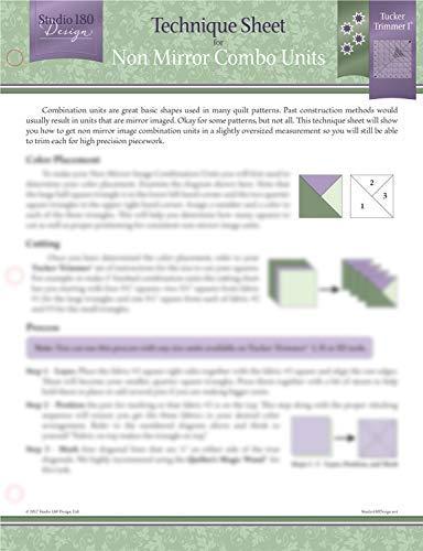- Studio 180 Design Technique Sheet - for Non-Mirror Combo Unit Quilt Blocks