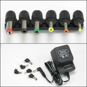 InstallerParts 500mA Universal AC/DC Adapter w/6 Plugs