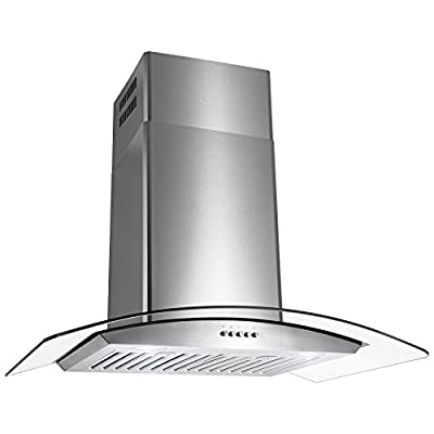 "Golden Vantage Stainless Steel 30"" Euro Style Wall Mount Range Hood Led Touch Screen Aluminum Mesh Silencer Filter"