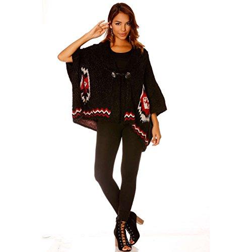 Miss Wear Line Gilet noir court manche kimono