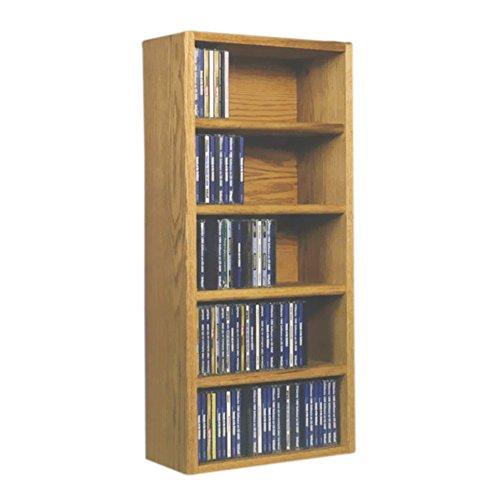 (Cdracks Media Furniture Solid Oak Desktop or Shelf CD Cabinet Capacity 130 CD's Honey Finish)
