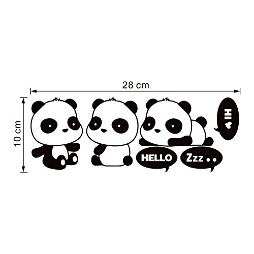 Da.Wa 3Pcs/Set Cute Panda Wall Sticker Decal Home Decor for Living Bedroom TV Wall