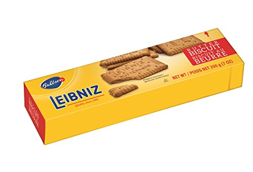 Bahlsen Leibniz Butter Biscuit Cookies (1 box) | Our classic original buttery biscuits (7 ounce boxes)