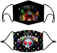 Washable Among us Bandana mask Adult crewmates Impostor 3D Print Balaclava for Girls Boys Youth Anti dust Brea
