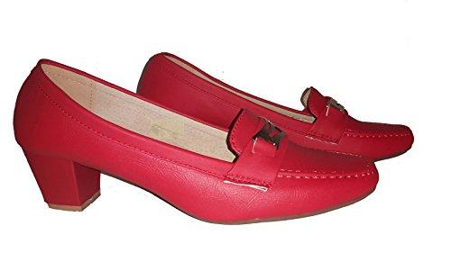 3-W-Hohenlimburg Stiletto Pumps High Heels Trachtenschuhe. mit Schnalle, Schleife oder Schmuck. Rot, Pink, Beige oder Braun, Damenschuhe, PHH118, Schuh für Damen, Topaktueller Trendschuh. Rot