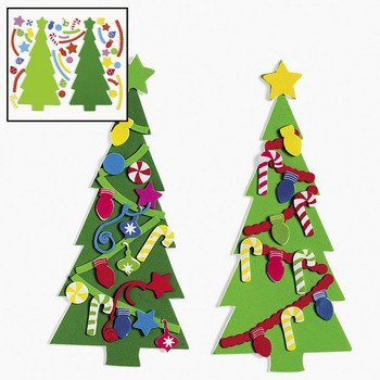- Foam Decorate your own Christmas Tree Craft kit includes 24 Foam tree shapes and 936 shapes
