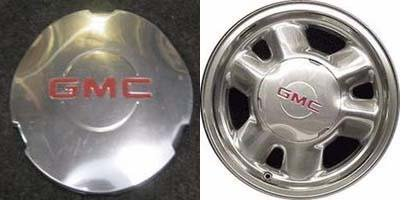 16 inch GMC Yukon Denali Sierra 1500 truck SUV Factory Original oem Wheel Polished Center Cap ONLY Hollander 5095 # 15712389 1999 2000 2001 2002 2003 by General Motors ()