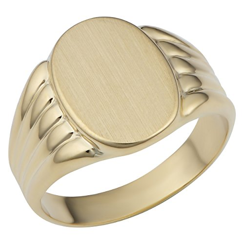 Oval Signet Ring (size 9) (Yellow Gold Womens Signet Ring)