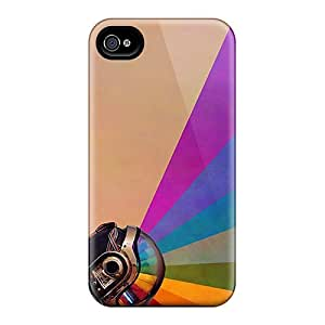 Harries Perfect Tpu Case For Iphone 4/4s/ Anti-scratch Protector Case (daft Punk)