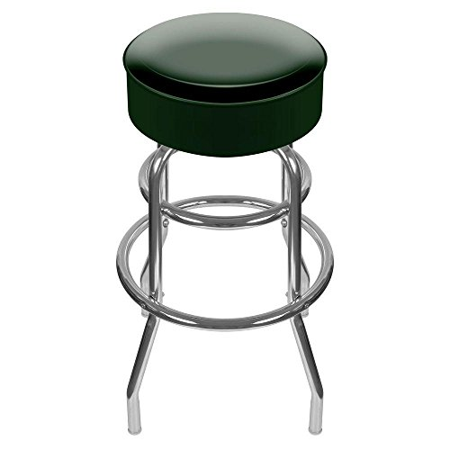 Trademark 31 in. Chrome Swivel Cushioned Bar (Frontgate Dining Arm Chair Cushion)