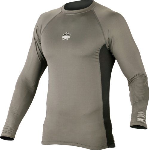 mance Work Wear 6415 Long Sleeve Shirt, Gray, Large (Ergodyne Core)