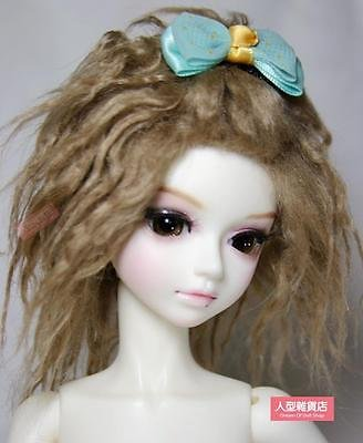 Brown Fur Wig - BJD doll wig 1/3 1/4 1/6 BJD DOLL MSD Fur Wig Dollfie Brown