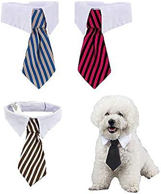4 Piezas Corbatas y Pajarita Ajustables de Mascotas Perros Gatos ...
