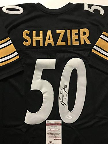 Autographed/Signed Ryan Shazier Pittsburgh Black Football Jersey JSA COA