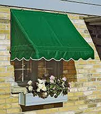 SavAwn by Kelly Ironworks Energy Saving Designer Retractable 4ft Forrest Green Window/Door Awning