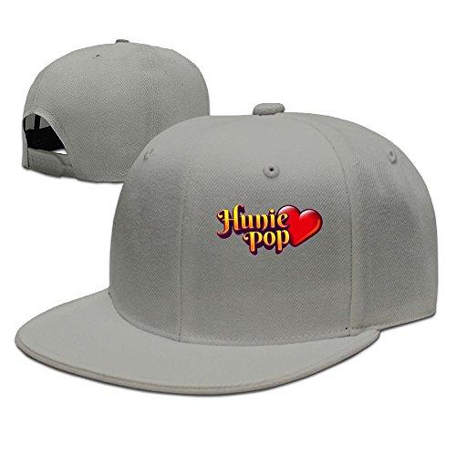 Price comparison product image Hunie Pop Logo Unisex 100% Cotton Ash Adjustable Snapback Baseball Hat One Size