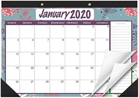 STOBOK Schreibtischkalender 2020-2021 Monatlicher Schreibtischunterlage Kalender/Wandkalender Terminplaner Januar 2020 - Dezember 2021, 42,9 x 30,5 cm, Vintage Floral