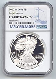 2020 W Proof American Silver Eagle 1 OZ PF-70 NGC Early Releases