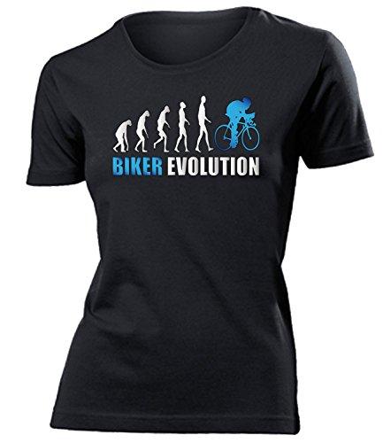 BIKER EVOLUTION mujer camiseta Tamaño S to XXL varios colores Negro / Azul