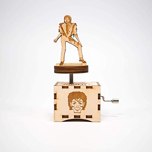 Michael Jackson Music Box - Thriller - Personalized engraved gift. Hand cranked mechanism.]()