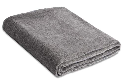 Andes Comfort Light Gray Authentic Premium Super Soft Warm Cozy Alpaca Wool Blanket. Queen Size 90