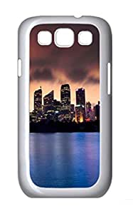 City Skyline 2 Polycarbonate Hard Case Cover for Samsung Galaxy S3 I9300¨C White