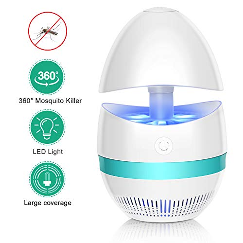 Lamp Killer (Dumax Bug Zapper Indoor Mosquito Killer Lamp Insect Killer Safe USB Powered Mosquito Zapper with Built in Fan Insect Trap for Indoor Bedroom Kitchen Outdoor Garden Patio Yard Office (Egg Shape))