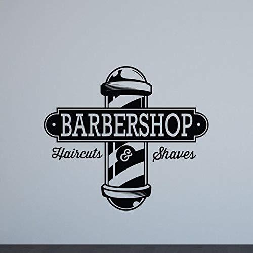 Ajcwhml Barbershop Logo Etiqueta de la Pared Ventana ...