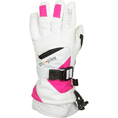 Swany Kids' X-Change Jr Glove - White/Magenta - Small by SWANY