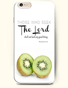 iPhone Case,OOFIT iPhone 6 (4.7) Hard Case **NEW** Case with the Design of Those who seek the Lord shall not lack any good thing Psalm 34:10 - Case for Apple iPhone iPhone 6 (4.7) (2014) Verizon, AT&T Sprint, T-mobile