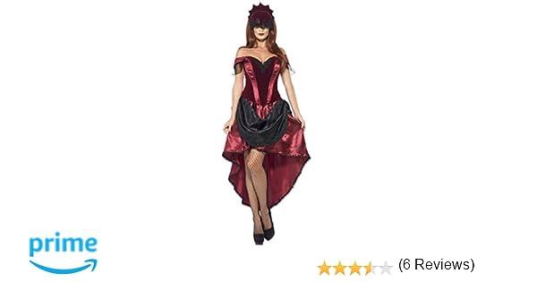 Smiffys Smiffys-43743M Disfraz de vampiresa Veneciana, con Parte de Arriba, Falda y Adorno para la Cabe, Color Rojo, M - EU Tamaño 40-42 43743M