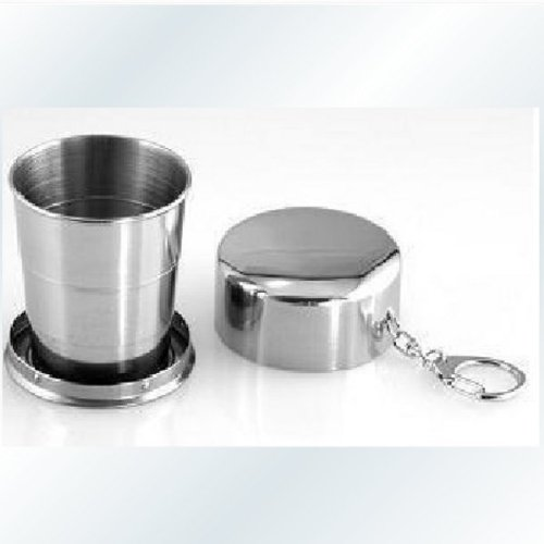 Large Flexible Folding Stainless Steel Parade Portable Water Cup.