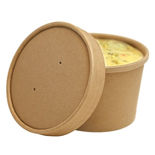 Small Eco Friendly Bio Soup Container 8 ounces 200 count box