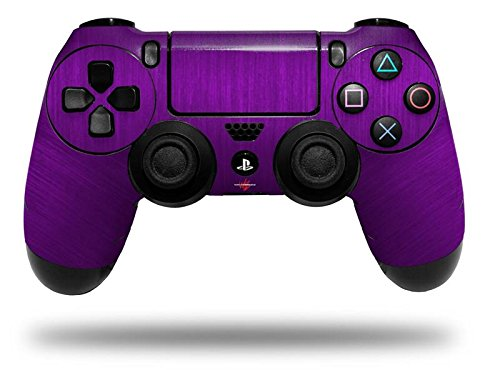 Brushed Metal Purple - Decal Style Wrap Skin fits Sony PS4 Dualshock Controller (CONTROLLER NOT INCLUDED) (Ps4 Controller Wrap compare prices)