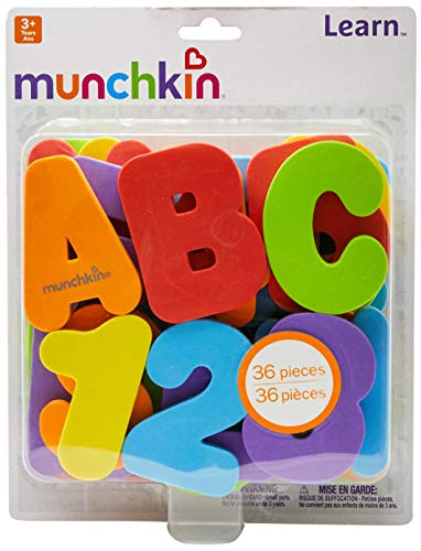 Munchkin Letters and Numbers Bath Toys, 36 Count ()