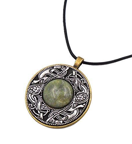 Connemara Irish Marble & Mullingar Pewter: Round Pendant Necklace ()