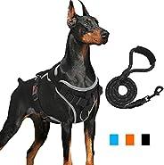 Arreio para cães Supet sem puxar, 【Versão mais recente】 Colete sem asfixia para cães com alça de fácil control