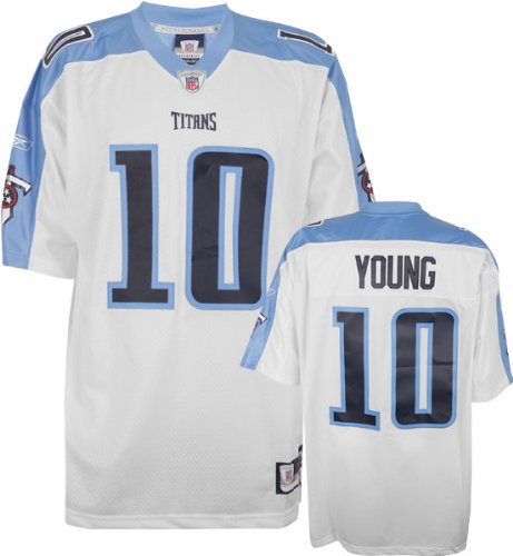 0e71a07171c8 Vince Young White Reebok NFL Premier Tennessee Titans Jersey - X-Large