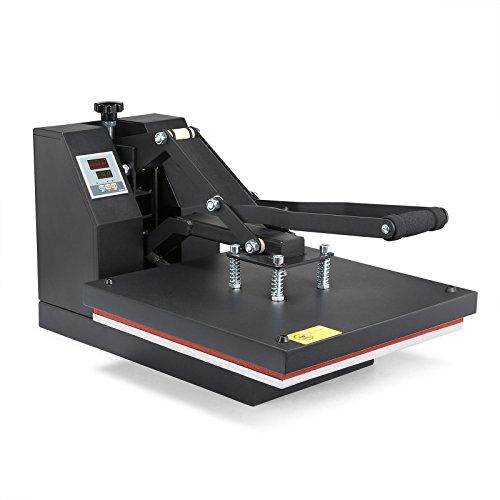 Lartuer Transferpresse Textilpresse T Shirtpresse Heat Press Machine 38X38 cm Hoher druck Einstellbarer mehrfach Federzug (38 x 38 cm)