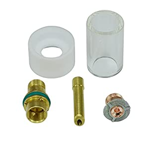 Gas Saver Wedge Collet Pyrex Cup Consumable 3/32″ Kit Fit DB PTA SR WP 17 18 26 TIG Welding Torch 5pcs