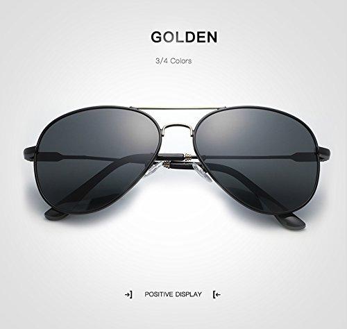 UV400 Unisex Vintage conducción Eye sol Mujer Gafas Cat para Large Gafas Moda Sun adultos de sol gafas Gafas de hombre Polaroid Ruiyue de para de Gold sol Gafas Espejo 0pw8qB8