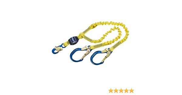 6 Edge Certified Cable 3M DBI-SALA EZ-Stop 1246178 Shock Absorbing Lanyard Alum Snap Hook One End 25 Gate Opening At Leg Ends Alum Rebar Hooks