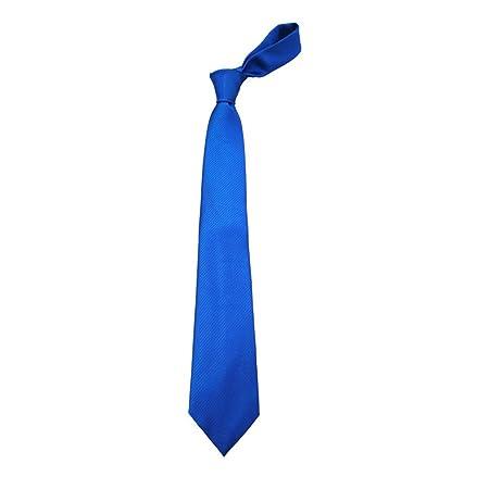 JINGJING Corbata de Color Liso para Hombre Jacquard de Seda Tejido ...
