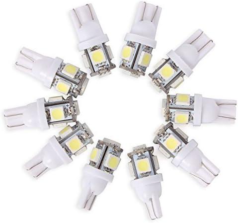 Neuftech® 10 X Bombilla T10 5 LED 5050 SMD 12V Luz Coche Trasera ...