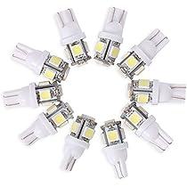 ... Neuftech® 10 X Bombilla T10 5 LED 5050 SMD 12V Luz Coche Trasera Lámpara,