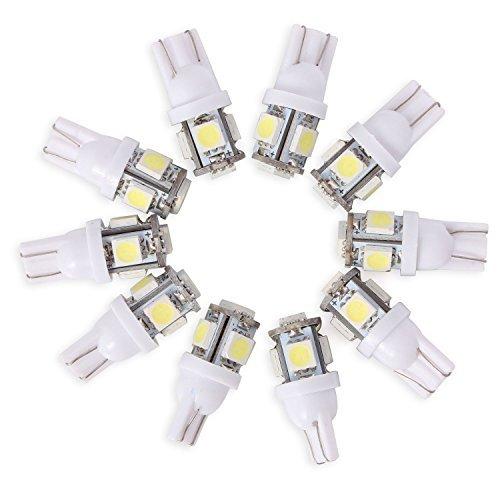 Neuftech 10x T10 W5W 194 168 5050 SMD 5 LED Blanc Lampe Veilleuse Ampoule Pour Voiture