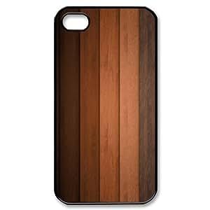 Vinceryshop Wood Planks Pattern Texture IPhone 4/4s Case, Cute Iphone 4s Case {Black}